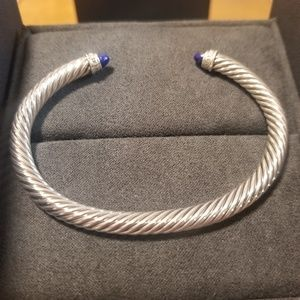 David Yurman 5mm M Lapis Lazuli/Diamond Bracelet